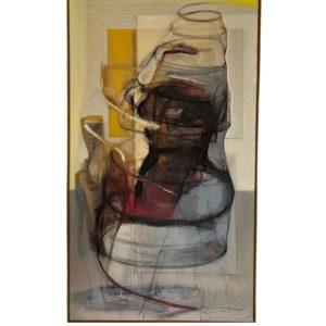 Marjan van Berkel Abstracted oil painting