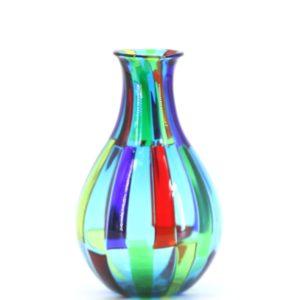 Angelo Ballarin ( Murano ) ''Pezzato'' vase made in Murano