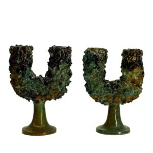 Caltagirone CCA - Candelabrum set of 2 - Porcelain 1