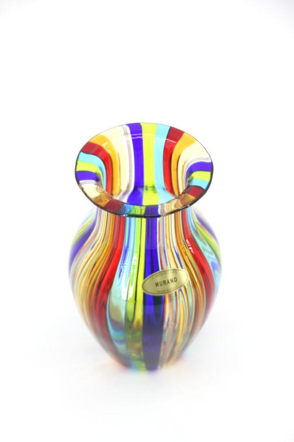 Multicolor vase - Murano - Campanella Livio