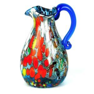 Murano - Fantasy murrina aquamarine - Jug - Glass