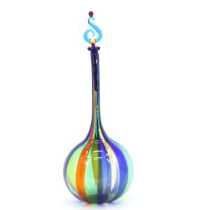 Angelo Ballarin ( Murano )  Vertical reed bottle - Glass