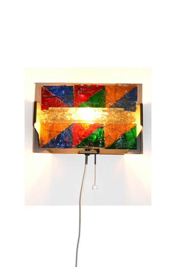 Cosack Unica Wall lamp 60s fused glass