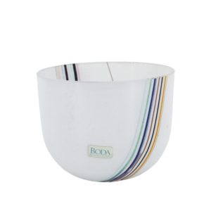 Kosta Boda Bertil Vallien rainbow art glass bowl