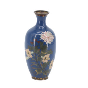 Cloisonné Enamel vase decorated with chrysanthemums