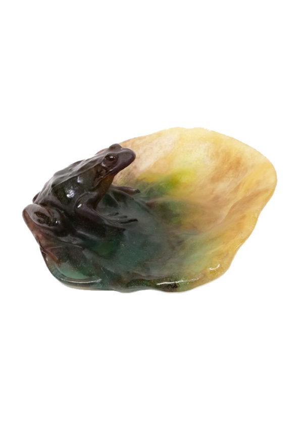 "Daum Nancy - Vintage decorative ""Pate de Far"" Crystal Frog Bowl - Vide Poche - Glass 1"