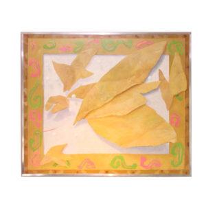 """Joop Rooijers - Abstracted oil painting presentation of """"cardboard"""""""