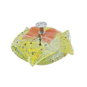 Murano - Design art glass bonbon dish butterfly 1